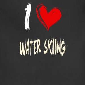 I love WATER_SKIING - Adjustable Apron