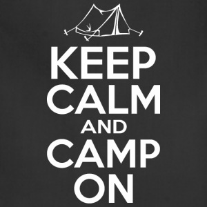Keep Calm And Camp On - Adjustable Apron