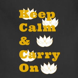 Keep Calm & Carry On - Adjustable Apron