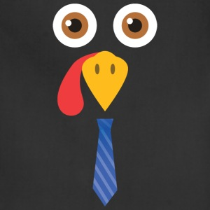 Turkey Face TShirt - Funny Fun Thanksgiving Day - Adjustable Apron