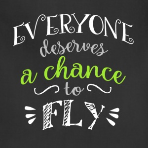 Wicked Musical Quote. Everyone Deserves A Chance - Adjustable Apron