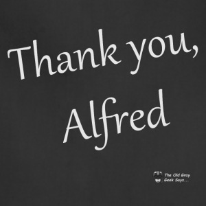 Thank You, Alfred (elegant) (light lettering) - Adjustable Apron