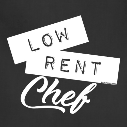 2019 Low Rent Chef Logo - White - Adjustable Apron