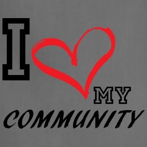 I_LOVE_MY_COMMUNITY - PLUS SIZE - Adjustable Apron