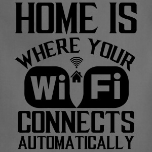 home_is_wifi - Adjustable Apron