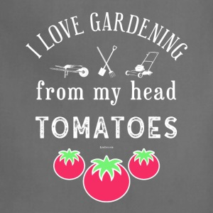 I Love Gardening T-Shirt for Gardener and Nature - Adjustable Apron