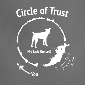 Funny Jack Russel shirt - Circle of Trust - Adjustable Apron