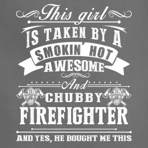Smokin Hot Awesome Firefighter Shirt - Adjustable Apron