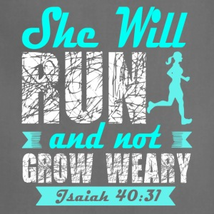 She Will Run And Not Grow Weary T Shirt - Adjustable Apron