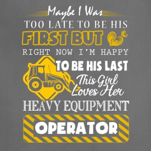 This Girl Love Her Heavy Equipment Operator Shirt - Adjustable Apron