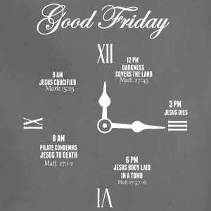 Good Friday Clock Jesus - Adjustable Apron