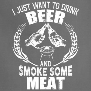 Drink Beer And Smoke Some Meat T Shirt - Adjustable Apron