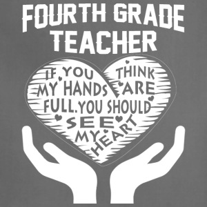 Fourth Grade Teacher T Shirt - Adjustable Apron