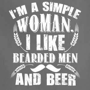 I Like Bearded Men And Beer T Shirt - Adjustable Apron