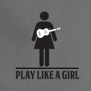 Play like a girl - ukulele - Adjustable Apron