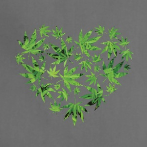 Weed Leaf Heart - Adjustable Apron