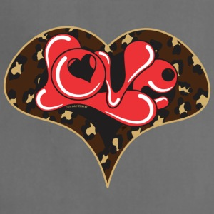 LEPOARD LOVE HEART - Adjustable Apron