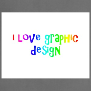 i love graphic design - Adjustable Apron