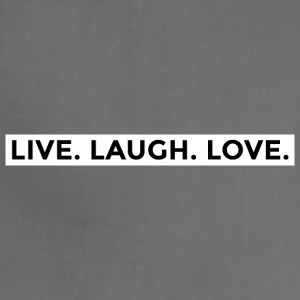 Live Laugh Love (Black/White Border) - Adjustable Apron