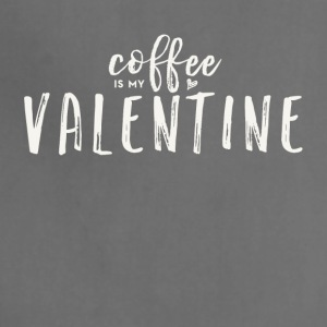 Coffee Is My Valentine (White Text) - Adjustable Apron