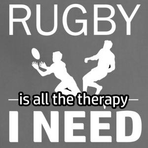 Rugby is my therapy - Adjustable Apron