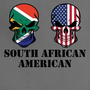 South African American Flag Skulls - Adjustable Apron
