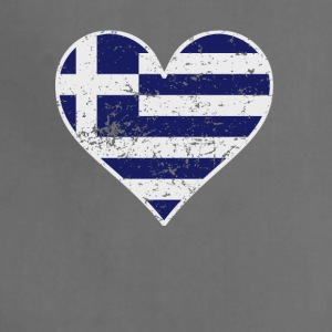 Distressed Greek Flag Heart - Adjustable Apron