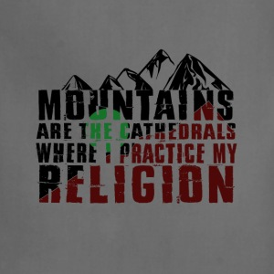 mountains are cathedrals T-shirt design - Adjustable Apron