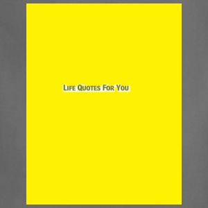 LIFE QUOTES FOR YOU yellow-Blue Denim and Lemonade - Adjustable Apron