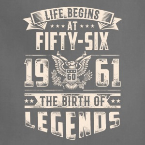 Life Begins At Fifty Six tshirt - Adjustable Apron