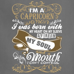 Im A Capricorn Woman I Was Born With My Heart - Adjustable Apron