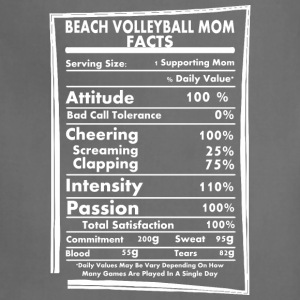 Beach Volleyball Mom Facts Daily Values Maybe Vary - Adjustable Apron