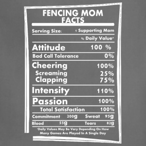 Fencing Mom Facts Daily Values May Be Vary - Adjustable Apron