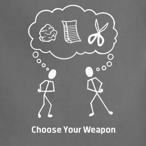 Choose Your Weapon Rock Paper Scissors - Adjustable Apron