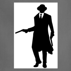 BLACK AND WHITE GANGSTER WITH GUN AND TUXEDO - Adjustable Apron