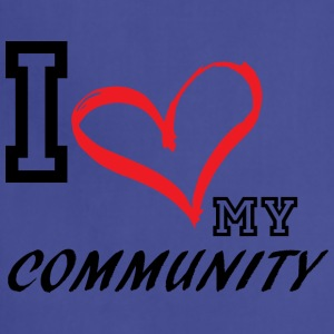 I_LOVE_MY_COMMUNITY - Adjustable Apron