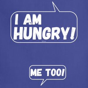 Funny for pregnant Women: I am Hungry Me Too! - Adjustable Apron