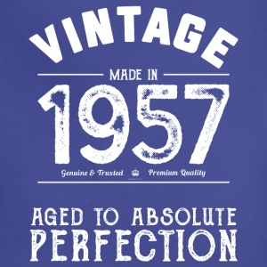 60th Birthday Gift: Vintage 1957 Aged Perfection - Adjustable Apron