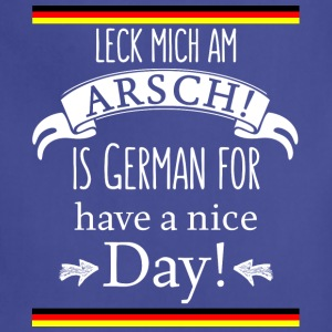 Funny German Translations Leck mich am Arsch! - Adjustable Apron