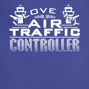 I Love My Air Traffic Controller Shirt - Adjustable Apron