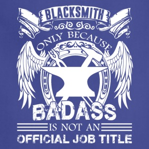 Blacksmith Job Title Shirt - Adjustable Apron