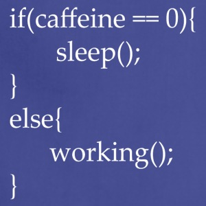 I code with caffeine - Adjustable Apron