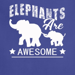 Elephants Tee Shirt - Adjustable Apron