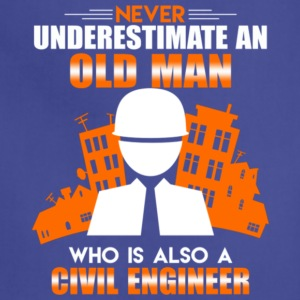 Old Man Civil Engineer T Shirt - Adjustable Apron