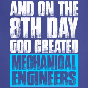 God Created Mechanical Engineers T Shirt - Adjustable Apron