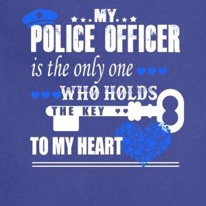 Police Officer Key Heart Shirt - Adjustable Apron