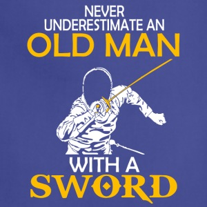 Old Man With A Sword T Shirt - Adjustable Apron