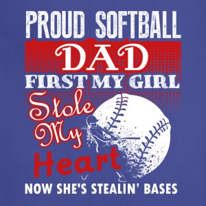 Proud Softball Dad Tee Shirt - Adjustable Apron