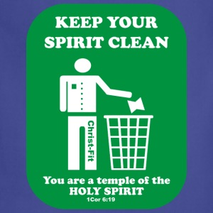 keep your spirit clean solid green - Adjustable Apron