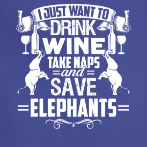 I Just Want To Save Elephants Tshirt - Adjustable Apron